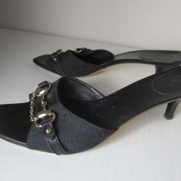 aae243dd3 Gucci Shoes | Authentic Monogram Horsebit Slides 95m | Poshmark